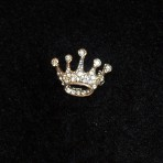 Rhinestone, 5pt Crown Pin