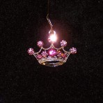 Gorgeous Pink Rhinestone 5pt Crown Charm
