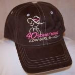 Choc/Stone & Pink Logo, Contrast Stitch Ball Cap
