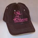 Choc/Pink Logo, Contrast Stitch Ball Cap