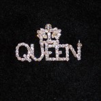 Queen's Rhinestone Pin