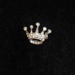 Rhinestone, 5pt Crown Pin
