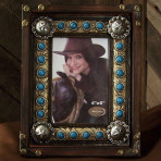 Turquoise Concho Frame