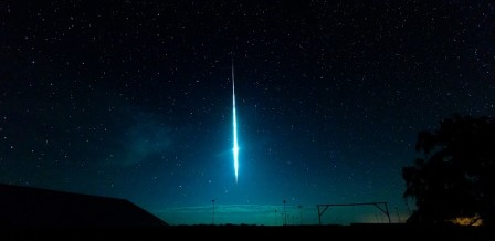 Capture of a Meteor shower in action!