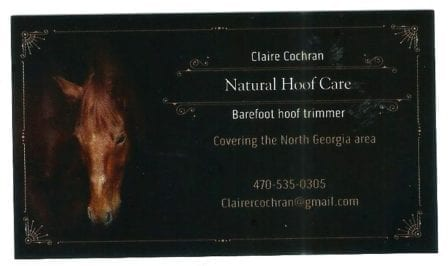Hoof Trimming Card