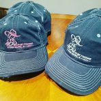 New Navy Ballcaps with Pink or White Logo