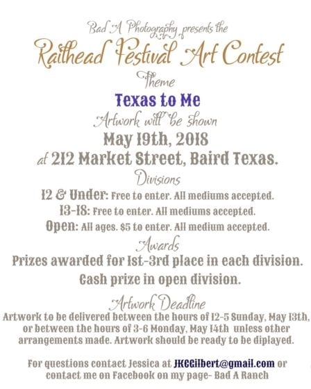 Breckenridge Tx-Art Festival @ Downtown Baird Tx | Baird | Texas | United States
