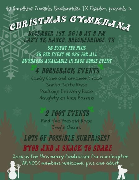 Breckenridge Tx-Christmas Gymkahana @ Lazy TK Ranch | Breckenridge | Texas | United States