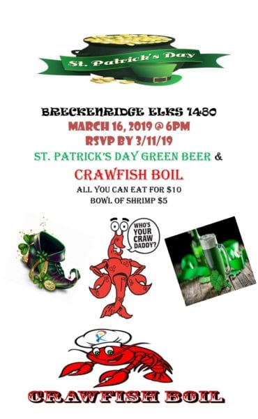 Breckenridge Tx-Crawfish at the Elks Lodge @ Breckenridge Elks Lodge