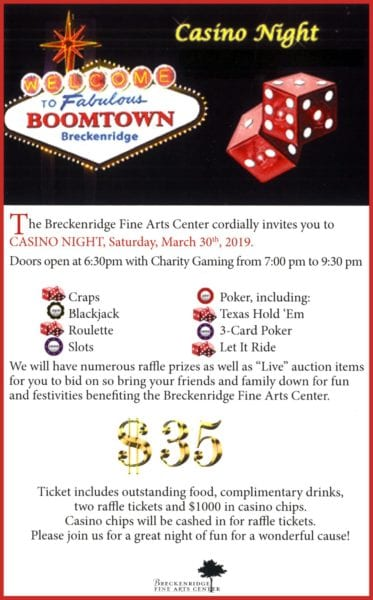 Breckenridge Tx-Casino Night @ Breckenridge Fine Arts Center