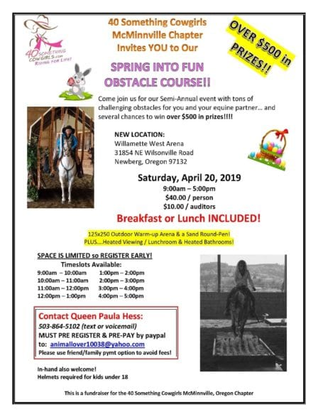 McMinnville, OR ~ Spring Into FUN Obstacle Course! @ Willamette West Arena