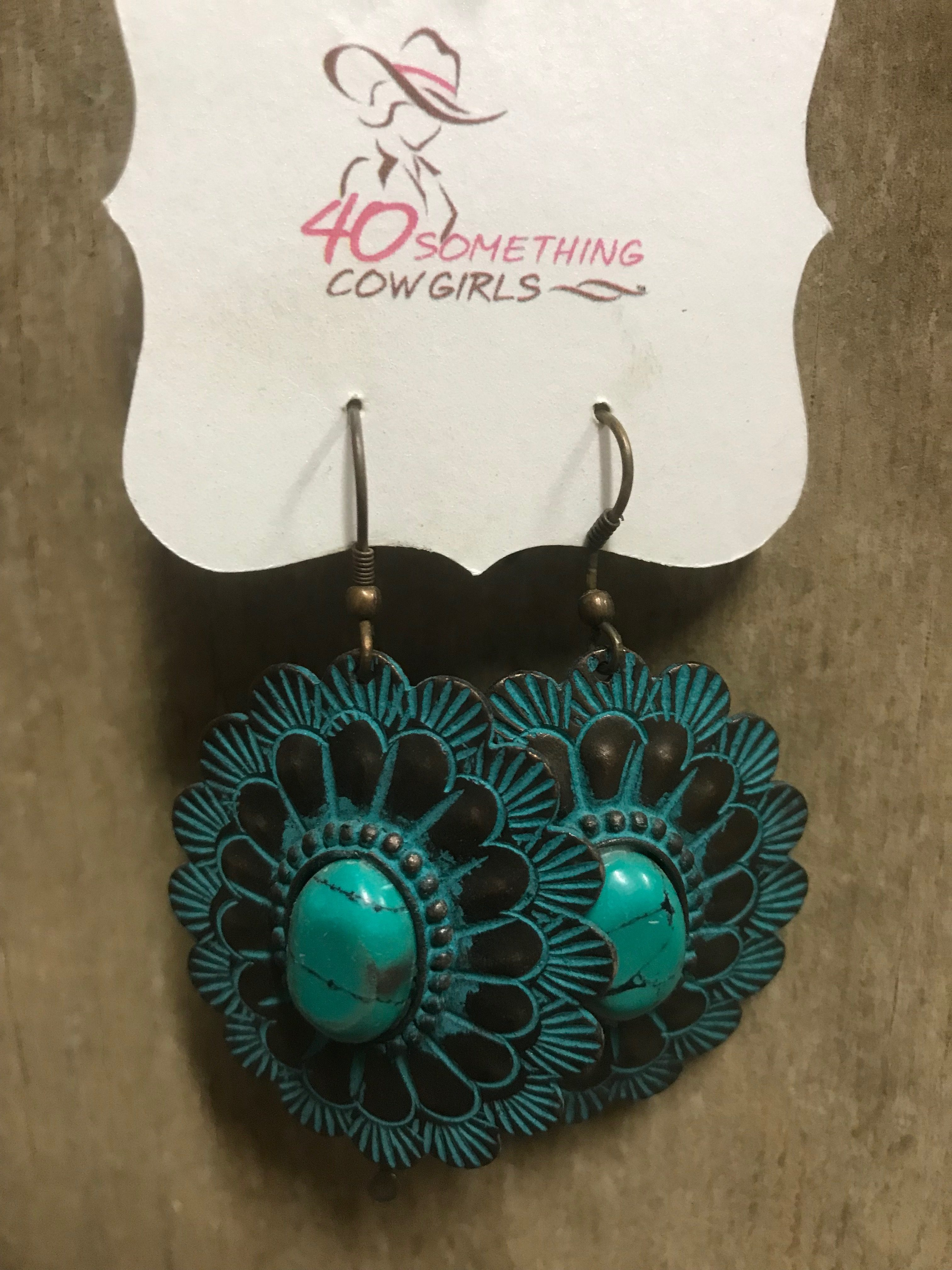 Patina Concho Earrings