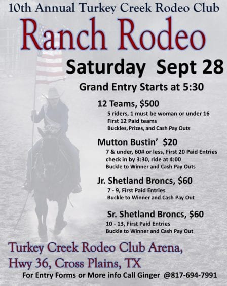 Breckenridge Tx-Turkey Creek Rodeo @ Turkey Creek Rodeo Arena